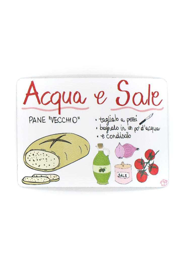 Calamita Puglia frigo Acqua e Sale
